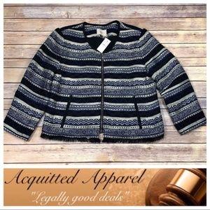 LOFT Ann Taylor Aztec Southwest Blazer Jacket NWT